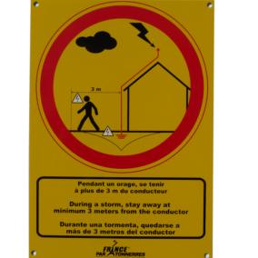 16 008 – 16 009 – Plaquette d'avertissement (Danger Orage)
