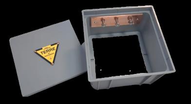 16 013 – Arqueta de control – Extensión+ barra de equipotencialidad +placa de señalización