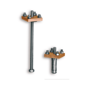 17 012  –  Air terminal stand for lined or crossed band with antimony lead expansion peg