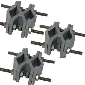 12 028 – Set of 3 side fastening brackets for cylindrical stand