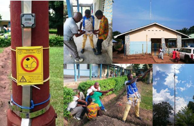 Paratonnerres hôpital de Kabinda