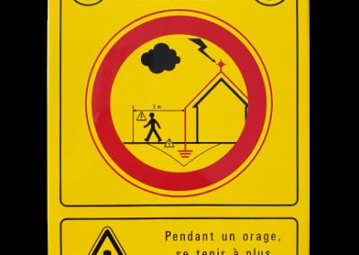 16 009 – Placa de señalización (peligro: rayo) / Amarillo