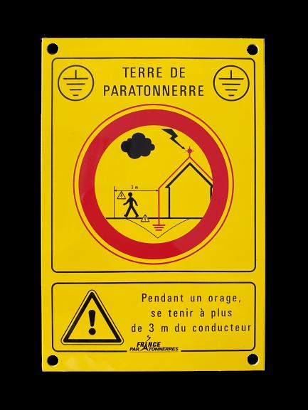 16009 - Plaquette d'avertissement jaune